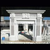 Marble fireplace stone statue
