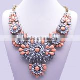 Fashion Charm Jewelry Pendant Chain Crystal Choker Chunky Statement bib Necklace NK022