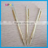 High Quality Company Promotional Gift Silver/Golden Color Slim Twist Metal Brass Ballpoint Pens