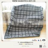 softexile polyester printed knitted fleece plaid blanket                                                                         Quality Choice