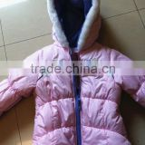 children's clothing girl's coat acrylic cotton padded coat grrl's winter coat