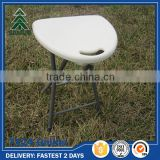 White small plastic foldable chair,rental resin folding chair