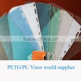 clear petg sheets and pc sheets for petg visor pc visor factory pass ANSI/ISEA Z87.1-2010 face shield