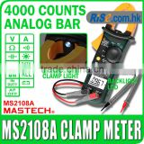 AC/DC Voltmeter Resistance Ohm 4000 count MS2108A Mastech Multimeter Clamp Meter