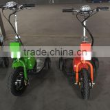 Two seat popular 350w 36v 3 wheel electric bike cheap mobility scooter for adult