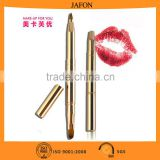 Free sample! Double sided dual retractable lip brush eyeshadow brush with cover                                                                         Quality Choice