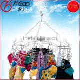 Heavy Duty Laundry Clothesline Hanging Rack for Drying Clothing Set of 20 Clothespins Round