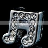 Popular Rhinestone Music Sign 8mm Slide Charms Shining Beads