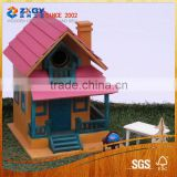Decorative Garden Bird House, Miniature Wood Crafts House