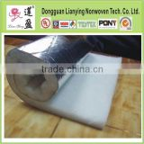 pasting aluminium foil polyester heat insulation batts for roofing/building material