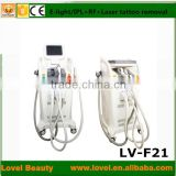 NEW AND HOT-SALE venus laser hair removal tattoo removal e-light ipl rf+nd yag laser multifunction machine