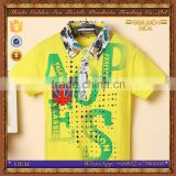 wholesale fashion pattern summer boys brand t-shirt