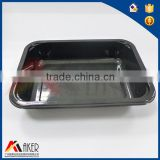 Rectangle Black CPET 100% virgin material Food Plastic microwavable Tray