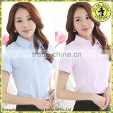 Female short-sleeved white shirt summer wear cotton black skirt dress uniforms                                                                         Quality Choice