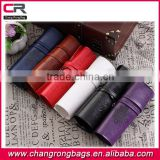 2014 novelty retro pu leather pencil case fashion stationary pu leather pen bags made in China