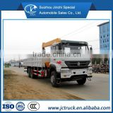 SINO HOWO 6X4 10T folding arm lift truck/straight arm telescopic truck crane/truck with crane