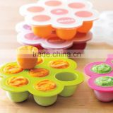 Silicone Baby Food Freezer Tray With Clip-on Lid/homemade Food Storage Containers