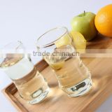 new arrival wholesale eco-friendly custom design OEM logo unique bamboo shape hand made glass drinking cup
