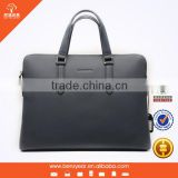 Factory Blue Genuine Leather Business Men's Office Laptop Leather Briefcase Shoulder Bags