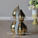 New design gold ceramic Chinese flower vase