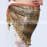 High Quality Beaded and Sequin Belly Dance Tribal Hip Scarf