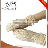 Beige Color Ladies Feast Dress Gloves Party Dress Gloves 2016 Summer New