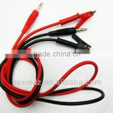 test cable banana plug connect alligator clips