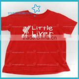 high quality 100% cotton kids T-shirt with customized logo