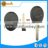 2 button car remote key case shell blanks wholesale without logo on key cover fob for Landrover freelander