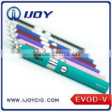 Cheapest vaporizer pen EVOD double starter kit ,colored smoke evod mt3 1100MA evod starter kit