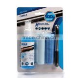 OPULA LCD SCREEN Cleaning kit with 2 cleaning cloths and one 100ml solution cleaner and one wool brush