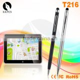 2in1 cheap good quality stylus touch ball pen T216