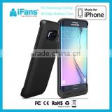 iFans New Product CE & ROHS & FCC Ultra thin Power Bank Battery Case For Samsung Galaxy S6 edge Charging Case