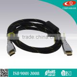 Light Up LED BRAIDED GOLD HDMI 1.4 Cable