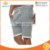 Gray Mens Casual Knee Length Jogging Jogger Shorts Cotton French Terry Athletic Sport Lounge Men Sweat Shorts
