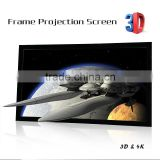 150 inch Office business fixed frame projector screen picture frame projector Screen photo frame projector screen