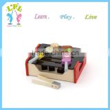 Dramatic series children wooden toys early learning china box barbecue grill
