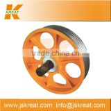 Elevator Parts|Elevator Cast Iron Deflector Sheave Manufacturer|cast iron pulley sheave