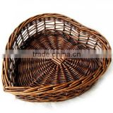 wholesale heart shape wicker basket, bread wicker basket, food basket from Chinese factory