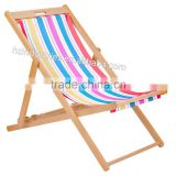 Wooden canvas folding deck chair