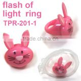 Soft Plastic Light-up Bunny Ring Toys