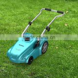 2015 up to 600 m2 lithium battery powered push lawn mower with high speed grass cutting and self mulching