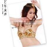 Exotic floral beaded bra tops for belly dancing belly dance beaded bras