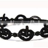 Diy pumpkin lamp black lace braided bracelets cheap pumpkin lamp design lace bracelets for Halloween promotion gifts