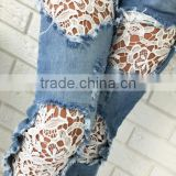 Runwaylover 5229 New Style sexy ladies lace sexy jeans
