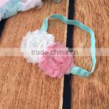New products OEM design big chiffon flower baby headband 2016