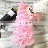 Creative Pink/Blue/Green Glitter Star Christmas Tree Cake Toppers Birthday Wedding Cake Decorations