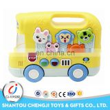 Baby high quality funny gift plastic electric school bus toy