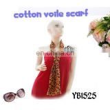 100% cotton long voile soft scarf fashion sexy woman hijab design printing factory direct sale