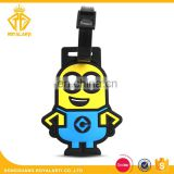 Wholesales Funny Cartoon PVC Bag Tag for Travel